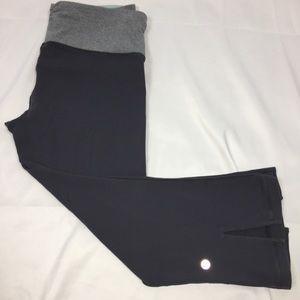 Lululemon Cropped Leggings Size 6 Dark Gray